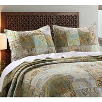 Greenland Home Fashions  Paisley Dream Pillow Shams, set of two (2)