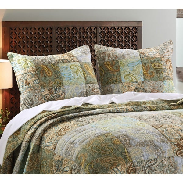 Greenland Home Fashions Paisley Dream Pillow Shams, set of two (2)