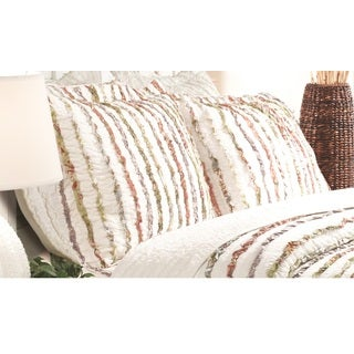 Greenland Home Fashions Bella Ruffle Pillow Shams, set of two (2)