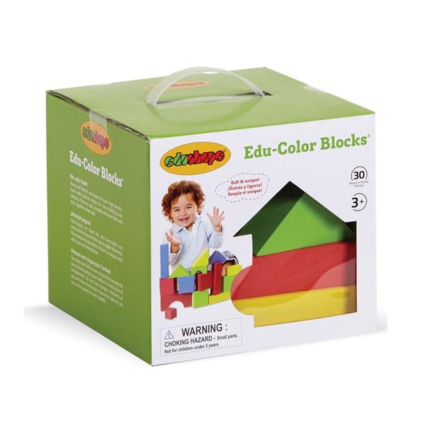 EduShape Educolor Blocks 30-piece Foam Block Building Set