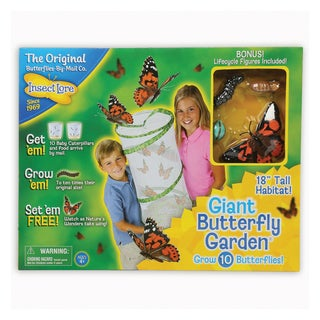 INSECT LORE Giant Butterfly Garden 18-inch Learning Set