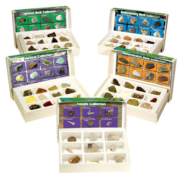 Educational Insights GeoSafari Complete 57-piece Rock, Mineral, and Fossil Collections