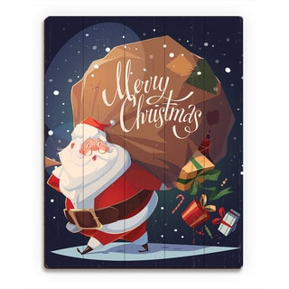 'Merry Christmas Gifts ' Printed Wood Wall Art