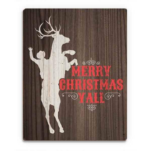 'Reindeer Bucking ' Printed Wood Wall Art