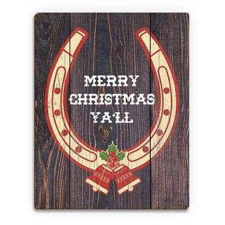 Christmas Horseshoe ' Printed Wood Wall Art