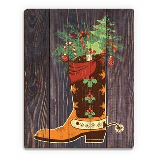 'Cowboy Stocking Stuffer ' Printed Wood Wall Art