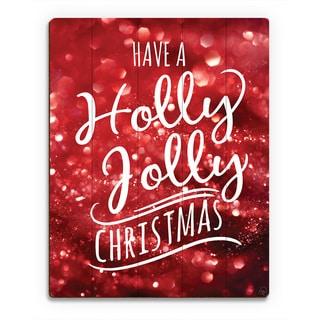'Holly Jolly Christmas Cheer ' Printed Wood Wall Art