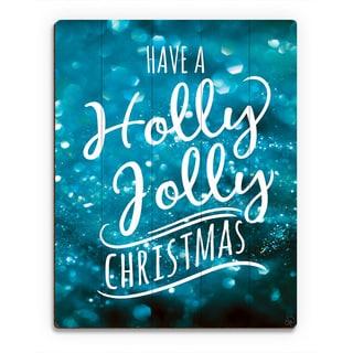 'Holly Jolly Christmas Snow ' Printed Wood Wall Art