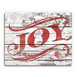 'Joy Ice Box ' Printed Wood Wall Art
