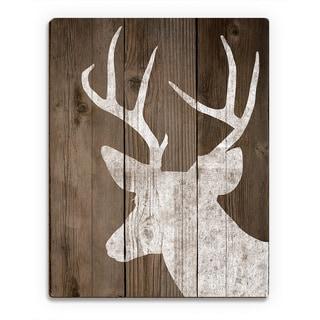 'Reindeer on Deck ' Printed Wood Wall Art