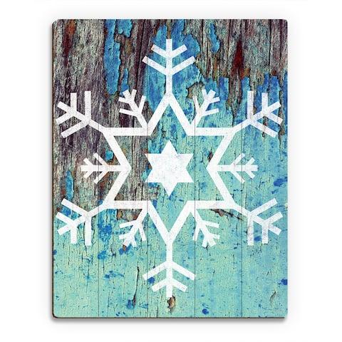 'David's Snowflake Freeze ' Printed Wood Wall Art