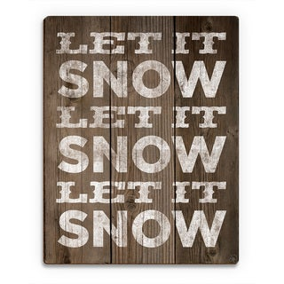 'Let it Snow Trio ' Printed Wood Wall Art