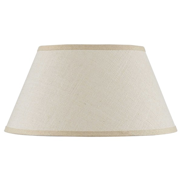 Fine Tan Burlap/Iron Hardback Lamp Shade