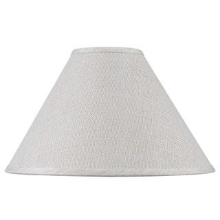 White Fine Burlap Hardback Lamp Shade