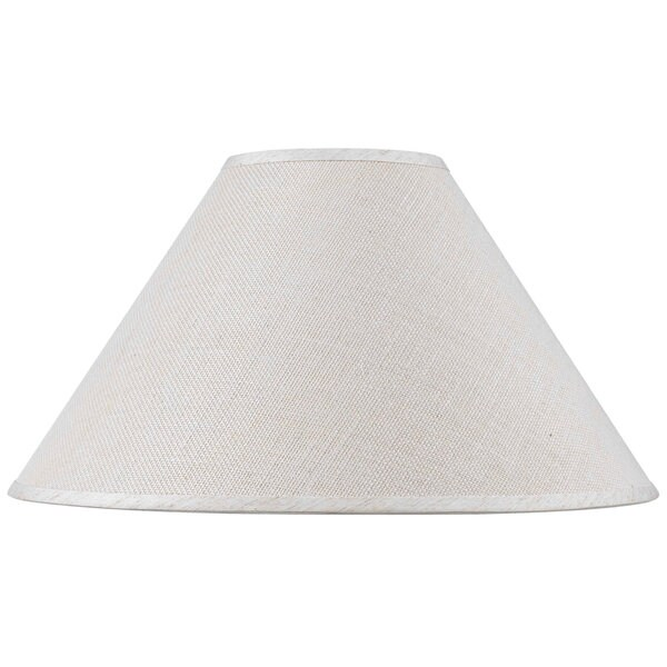 White Hardback Fine Burlap Traditional Lamp Shade