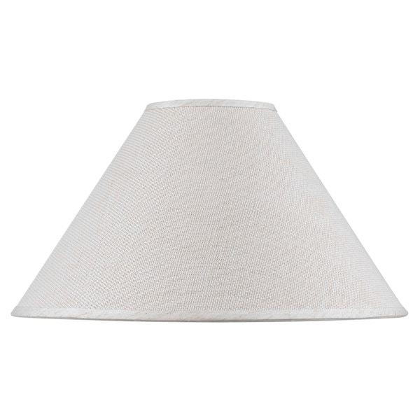 White Hardback Fine Burlap Shade