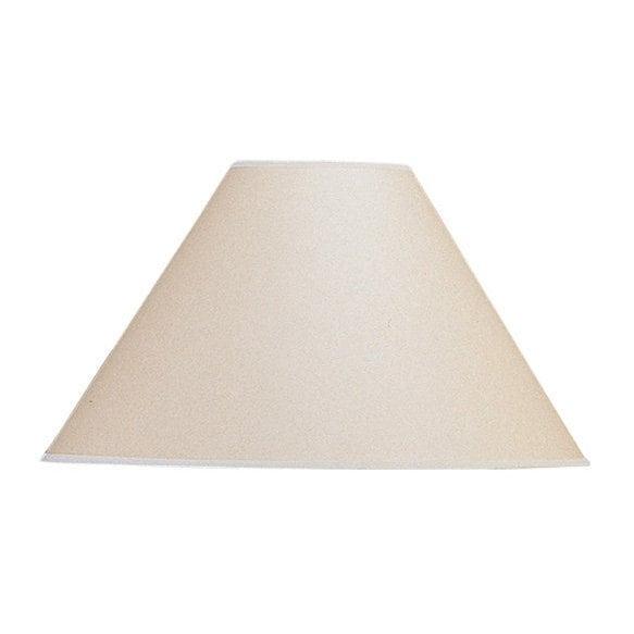 Basic Vertical Beige/Brown Coolie Lamp Shade
