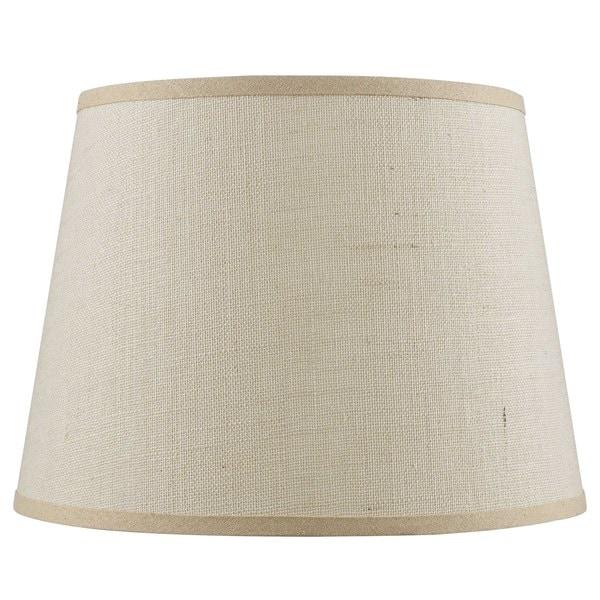 Hardback Tan Fine Burlap Lamp Shade