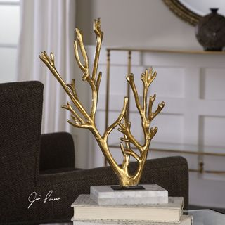 Uttermost Golden Coral Sculpture