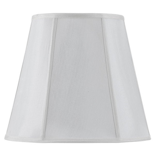 Deep Empire White Fabric Vertical Piped Lamp Shade