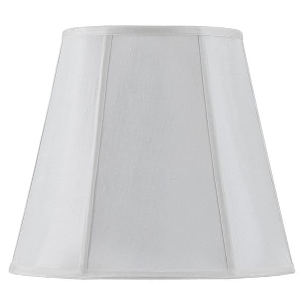 Vertical Piped Deep Empire White Fabric/Metal Lamp Shade