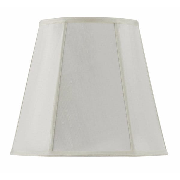 Vertical Piped Deep Empire Off-white Fabric/Metal Lamp Shade