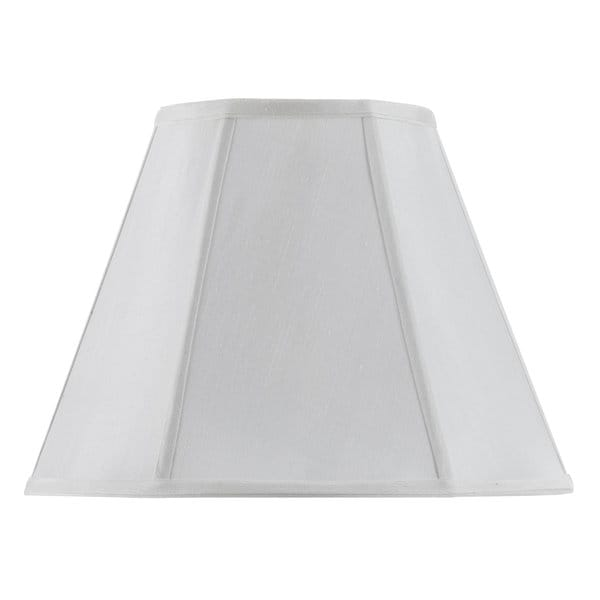 Vertical Piped White Empire Table Lamp Shade