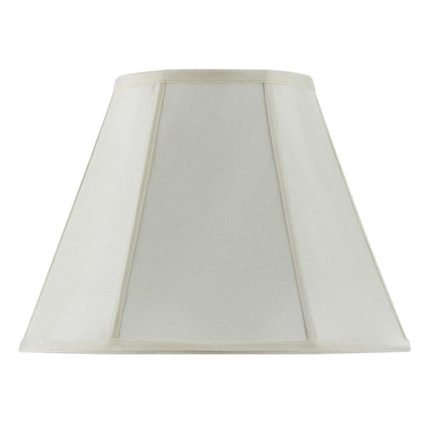 Off-white Fabric and Metal Vertical Piped Basic Empire Lampshade