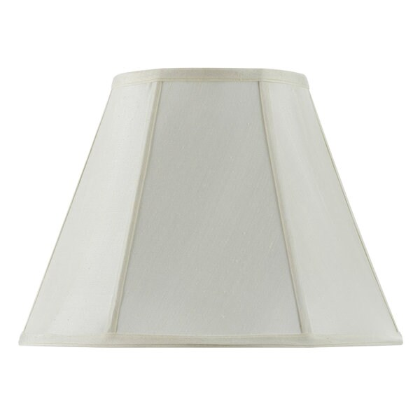 Basic Vertical Piped Empire Off-white Fabric Lamp Shade