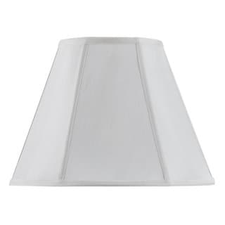 White Fabric and Metal Vertical-piped Basic Empire Shade