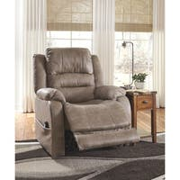 Signature Design by Ashley Barling Mushroom Power Recliner with Adjustable Headrest