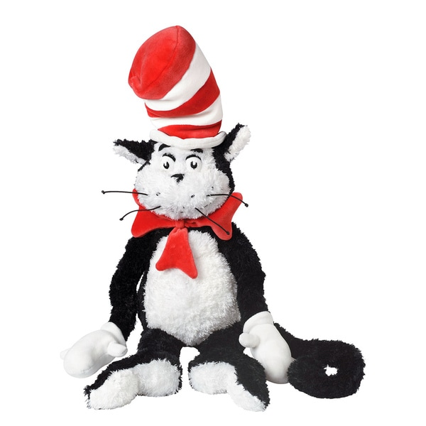 Manhattan Toy Dr. Seuss The Cat in the Hat 27-inch Soft Plush Toy