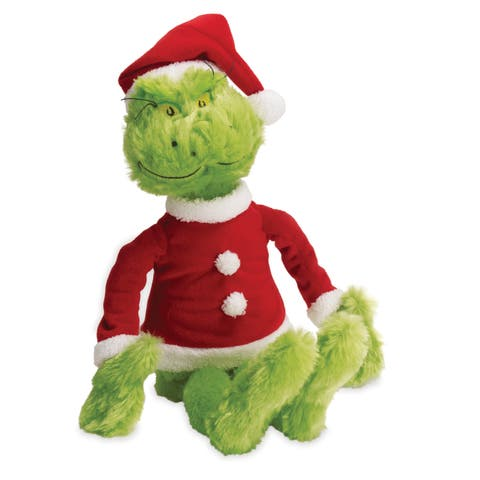 Manhattan Toy Dr. Seuss The Grinch in Santa Suit Soft Toy - Red/Green
