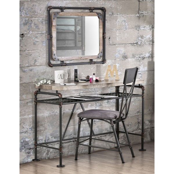 Furniture of America Revo Industrial Antique Black Framed Wall Mirror -  Free Shipping Today - Overstock.com - 20292942 - Furniture Of America Revo Industrial Antique Black Framed Wall