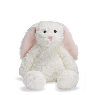 Manhattan Toy Delightfuls White 12-inch Bevin Bunny Plush Toy