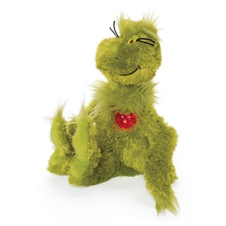 Manhattan Toy Dr. Seuss Grinch with Light-up Heart Plush Toy