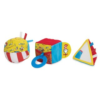 Manhattan Toy Dr. Seuss 'Cat in the Hat' Multicolor Fabric Baby Activity Shape Set