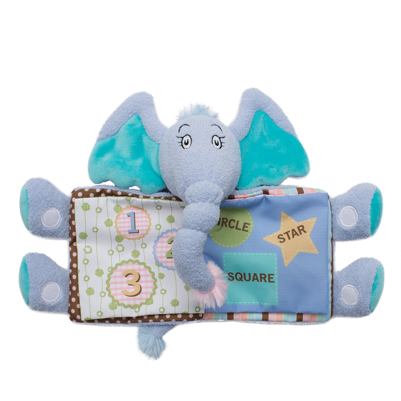 Manhattan Toy Dr. Seuss Horton Tactile Fabric Snuggle Boo...