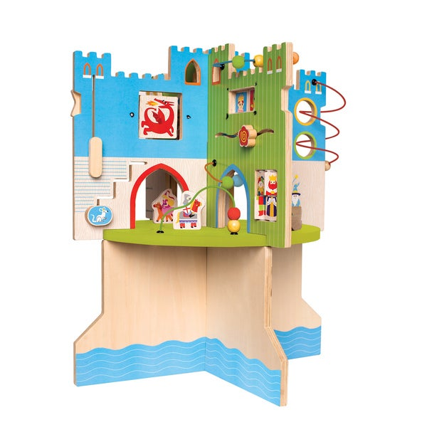 Manhattan Toy Kids' Unisex Storybook Castle Multicolored Wooden Toddler Activity Center