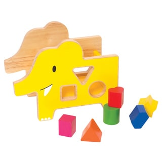Manhattan Toy Multicolored Wood Shape Sorter Elephant Toy