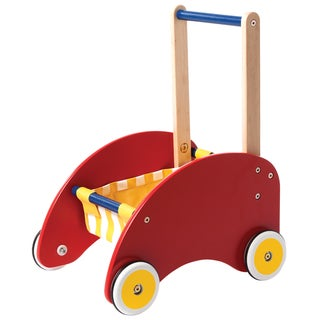 Manhattan Toy Wood Push Cart Toddler Activity Toy