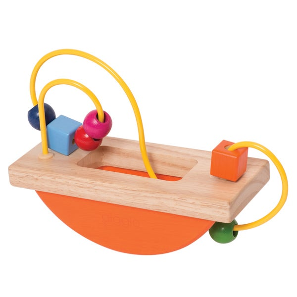 Manhattan Toy Multicolor Wooden Bead Maze Baby Activity Toy