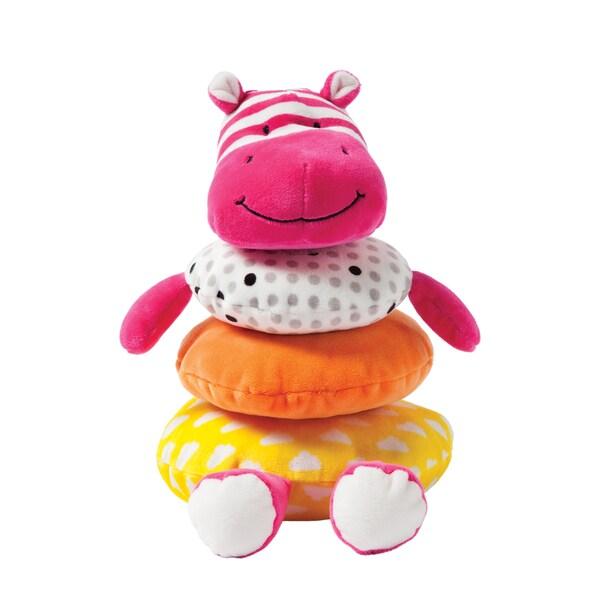 Manhattan Toy Babies' Soft Stacker Pink Hippo Toy