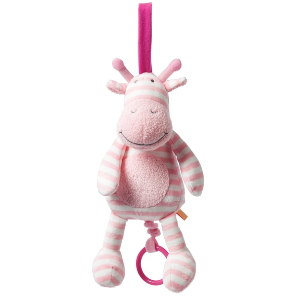 Manhattan Toy Pull Musical Pink Giraffe Baby Toy
