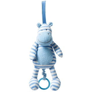 Manhattan Toy Blue Hippo Pull Musical Baby Toy