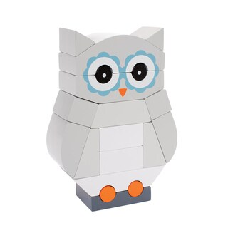 Manhattan Toy Luna the Owl Wooden Magnetic Stacking Block Puzzle