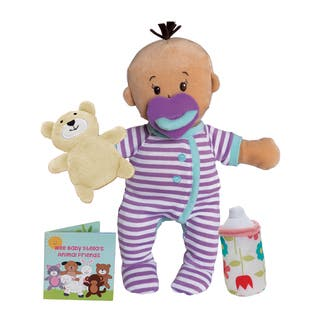 Manhattan Toy Wee Baby Stella Beige Sleepy Times Scent 12 Inch Soft Doll Set