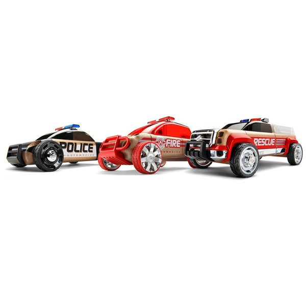 Automoblox Mini S9 Police/X9 Fire/T900 Rescue Vehicle 3-pack