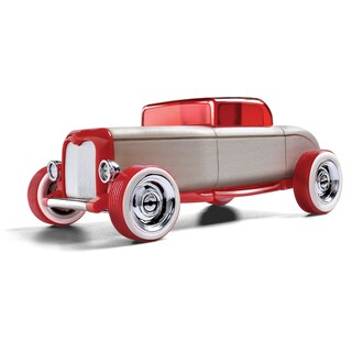 Automoblox Mini Hr-1 Hot Rod Coupe Red Wooden Toy Car