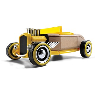 Automoblox Mini Hr-2 Wood Hot Rod Roadster Toy